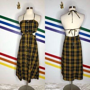 NEW Urban Outfitters plaid midi dress